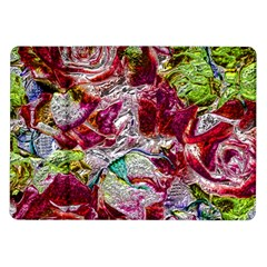 Floral Chrome 01c Samsung Galaxy Tab 10 1  P7500 Flip Case