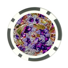 Floral Chrome 2b Poker Chip Card Guard (10 Pack)