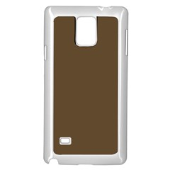Brown Hide Solid Color  Samsung Galaxy Note 4 Case (white)