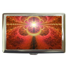 Liquid Sunset, A Beautiful Fractal Burst Of Fiery Colors Cigarette Money Case