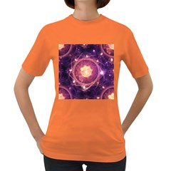 A Gold And Royal Purple Fractal Map Of The Stars Women s Dark T Shirt