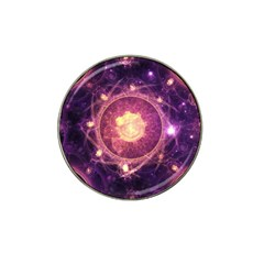 A Gold And Royal Purple Fractal Map Of The Stars Hat Clip Ball Marker