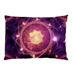 A Gold And Royal Purple Fractal Map Of The Stars Pillow Case