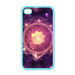 A Gold And Royal Purple Fractal Map Of The Stars Apple Iphone 4 Case (color)