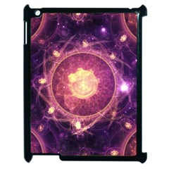 A Gold And Royal Purple Fractal Map Of The Stars Apple Ipad 2 Case (black)