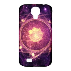 A Gold And Royal Purple Fractal Map Of The Stars Samsung Galaxy S4 Classic Hardshell Case (pc+silicone)