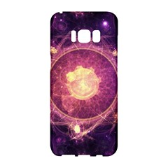 A Gold And Royal Purple Fractal Map Of The Stars Samsung Galaxy S8 Hardshell Case