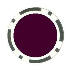 Black Cherry Solid Color Poker Chip Card Guard (10 Pack)