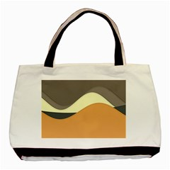 Wave Chevron Waves Material Basic Tote Bag (two Sides)