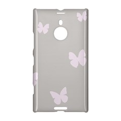 Butterfly Silhouette Organic Prints Linen Metallic Synthetic Wall Pink Nokia Lumia 1520