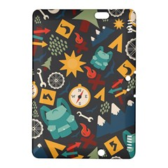 Compass Cypress Chair Arrow Wheel Star Mountain Kindle Fire Hdx 8 9  Hardshell Case