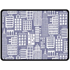 Building Citi Town Cityscape Double Sided Fleece Blanket (large)