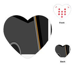 Flag Grey Orange Circle Polka Hole Space Playing Cards (heart)