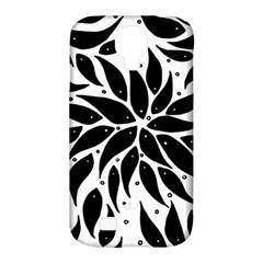 Flower Fish Black Swim Samsung Galaxy S4 Classic Hardshell Case (pc+silicone)