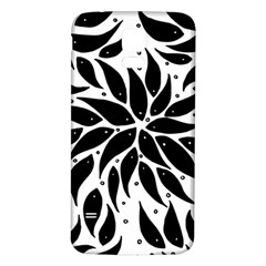 Flower Fish Black Swim Samsung Galaxy S5 Back Case (white)