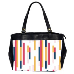 Geometric Line Vertical Rainbow Office Handbags (2 Sides)
