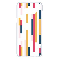 Geometric Line Vertical Rainbow Samsung Galaxy S8 Plus White Seamless Case