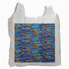 Geometric Line Cable Love Recycle Bag (one Side)