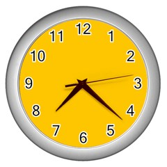 Amber Solid Color  Wall Clocks (silver)