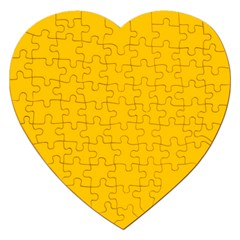 Amber Solid Color  Jigsaw Puzzle (heart)