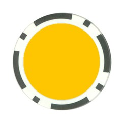 Amber Solid Color  Poker Chip Card Guard (10 Pack)