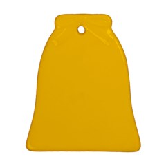 Amber Solid Color  Bell Ornament (two Sides)