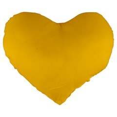 Amber Solid Color  Large 19  Premium Heart Shape Cushions