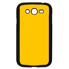 Amber Solid Color  Samsung Galaxy Grand Duos I9082 Case (black)