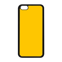 Amber Solid Color  Apple Iphone 5c Seamless Case (black)