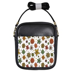 Flower Floral Sunflower Rose Pattern Base Girls Sling Bags