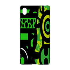 Half Grower Banner Polka Dots Circle Plaid Green Black Yellow Sony Xperia Z3+