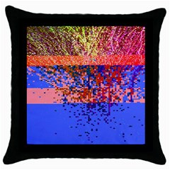 Glitchdrips Shadow Color Fire Throw Pillow Case (black)