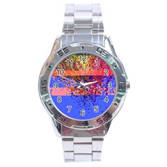 Glitchdrips Shadow Color Fire Stainless Steel Analogue Watch