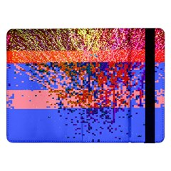 Glitchdrips Shadow Color Fire Samsung Galaxy Tab Pro 12 2  Flip Case