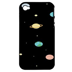 Planets Space Apple Iphone 4/4s Hardshell Case (pc+silicone)