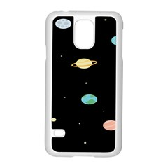 Planets Space Samsung Galaxy S5 Case (white)