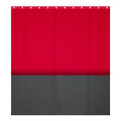 Red Gray Flag Line Horizontal Shower Curtain 66  X 72  (large)
