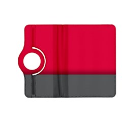 Red Gray Flag Line Horizontal Kindle Fire Hd (2013) Flip 360 Case
