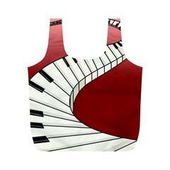 Piano Keys Music Full Print Recycle Bags (m)