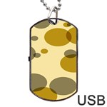 Polka Dots Dog Tag USB Flash (One Side) Front