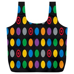 Polka Dots Rainbow Circle Full Print Recycle Bags (l)