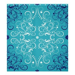 Repeatable Flower Leaf Blue Shower Curtain 66  X 72  (large)