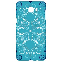 Repeatable Flower Leaf Blue Samsung C9 Pro Hardshell Case