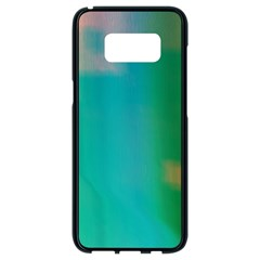 Shadow Faintly Faint Line Green Samsung Galaxy S8 Black Seamless Case