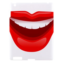 Smile Lips Transparent Red Sexy Apple Ipad 3/4 Hardshell Case