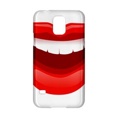 Smile Lips Transparent Red Sexy Samsung Galaxy S5 Hardshell Case