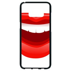 Smile Lips Transparent Red Sexy Samsung Galaxy S8 Black Seamless Case