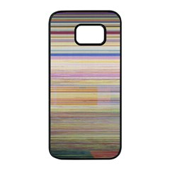 Shadow Faintly Faint Line Included Static Streaks And Blotches Color Samsung Galaxy S7 Edge Black Seamless Case