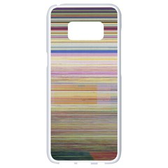 Shadow Faintly Faint Line Included Static Streaks And Blotches Color Samsung Galaxy S8 White Seamless Case
