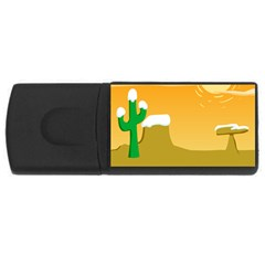 Sunrise Sunset Desert Sun Light Orange Ice Snow Usb Flash Drive Rectangular (4 Gb)